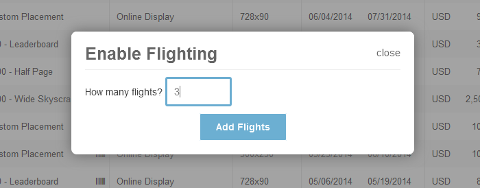 Specifying-flighting