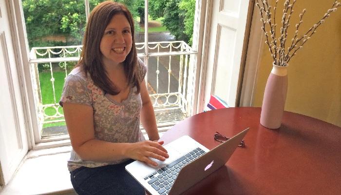 Vicki Parker at Publitek's office in Bath, UK.