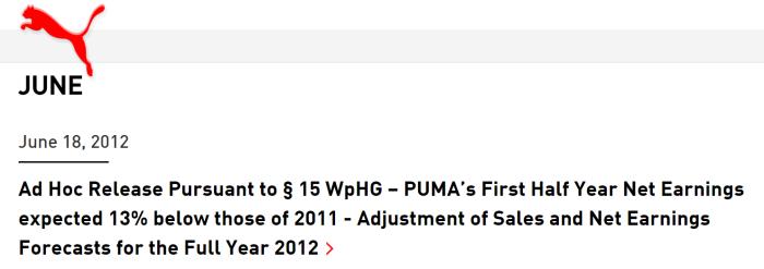 Puma - June 18th 2012 adhoc release