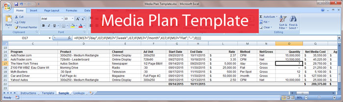 Free Download Media Plan Template – Media Plan Template