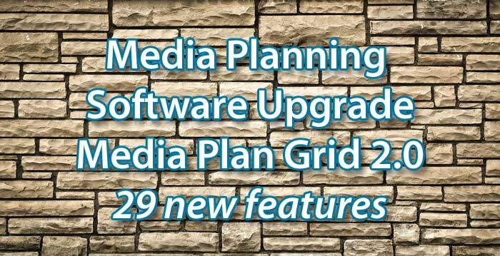 Bionic Advances Media Planning Software with Media Plan Grid 2.0