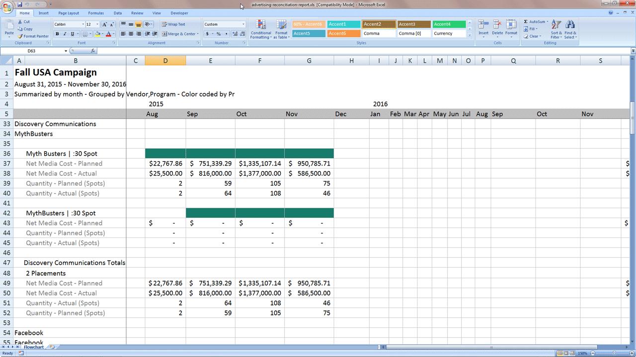 sample media planning reports