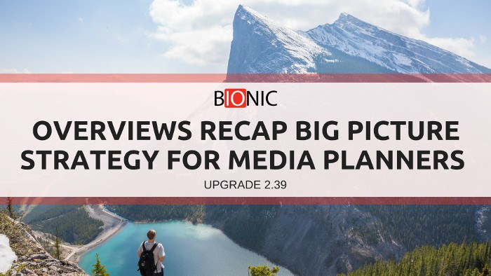 Overviews recap big picture strategy for media planners