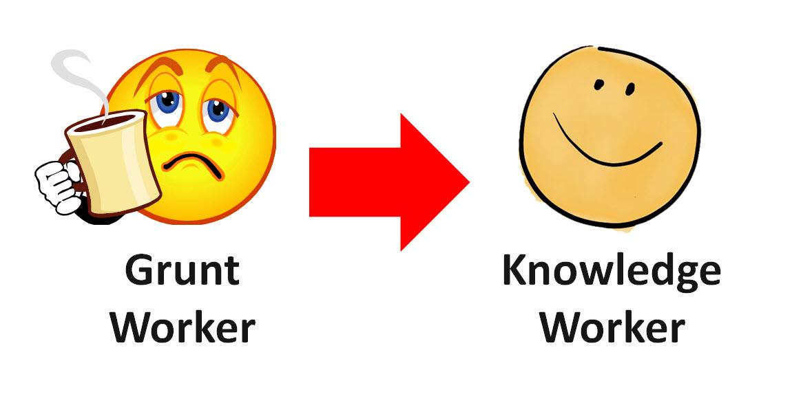 grunt worker to knowledge worker