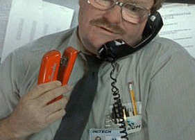 office space red stapler
