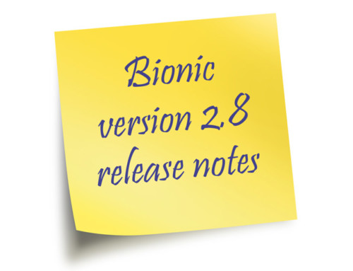 Release Notes for version 2.8 of the Bionic Digital Media Planner and Digital Ad Sales System