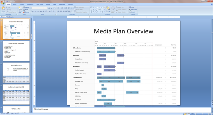 create persuasive media plan powerpoints with bionic planner
