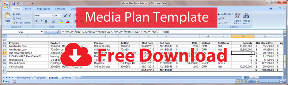 Free Media Plan Template  Bionic Advertising Systems