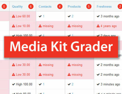 Media Kit Grader Tool for Ad Sales Teams