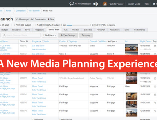 A New Media Planning Experience