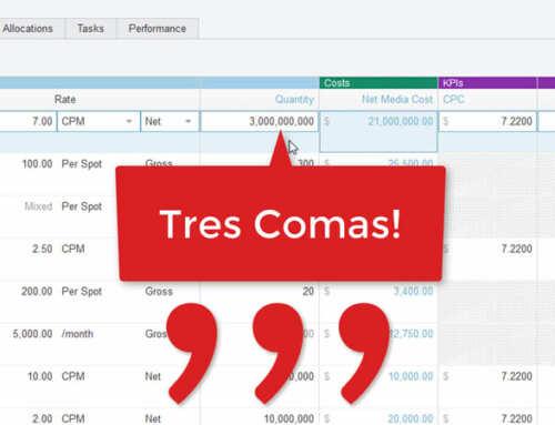 "New ""Tres Comas"" Media Planning Tool"